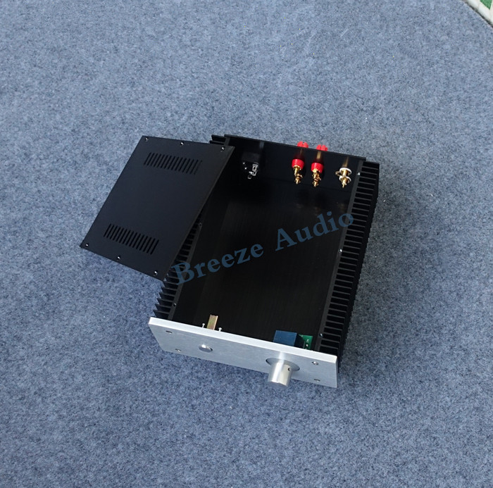 BZ2109B All Aluminum Audio Amplifier Chassis Power Amp Case Preamp Enclosure DIY Box 211MM*90MM*257MM bz3008 all aluminum amplifier chassis preamp integrated amplifier amp enclosure case diy box 280 70 211mm