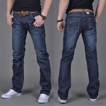 цена на Brand New Men's Fashion Jeans Hot Jeans For Young Men Sale Men's Pants Casual Slim Cheap Straight Trousers Free Shipping