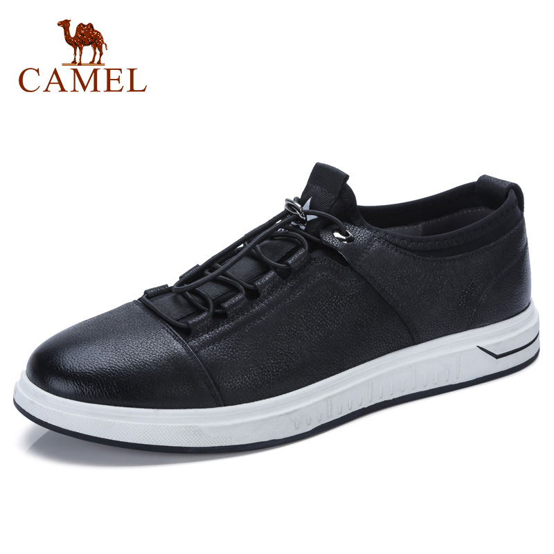 CAMEL Autumn Men s Fashion England Casual Shoes Comfortable Genuine Leather Male Elastic Laces Moccasin Leather