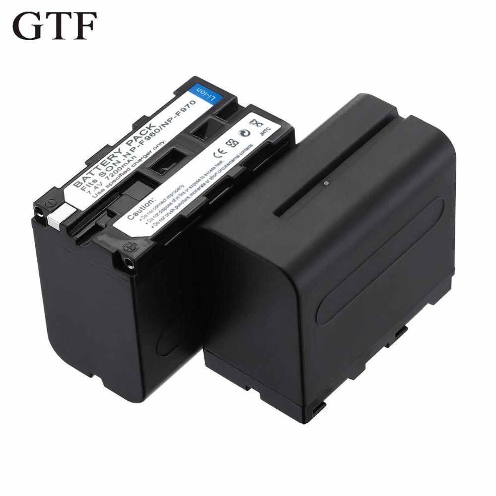 GTF Np-f970/F960 batterie Pack pour F950 F750 F550 F570 F330 MC1500C 190 P 198 P F950 HD1000C Rechargeable batterie