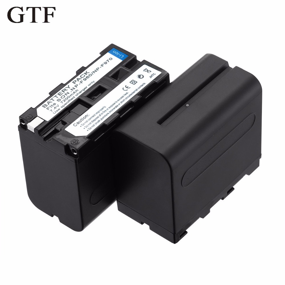 GTF Np-f970 / F960 battery Pack for F950 F750 F550 F570 F330 MC1500C 190 P 198 P F950 HD1000C Rechargeable Battery зарядное устройство для фотокамеры esydream uk eu sony np f330 np f550 np f570 np f750 np f770 np f550