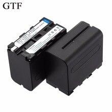 GTF Np-f970/F960 F950 batería para SONY F750 F550 MC1500C F570 F330 190 P 198 P HD1000C F950 Batería Recargable