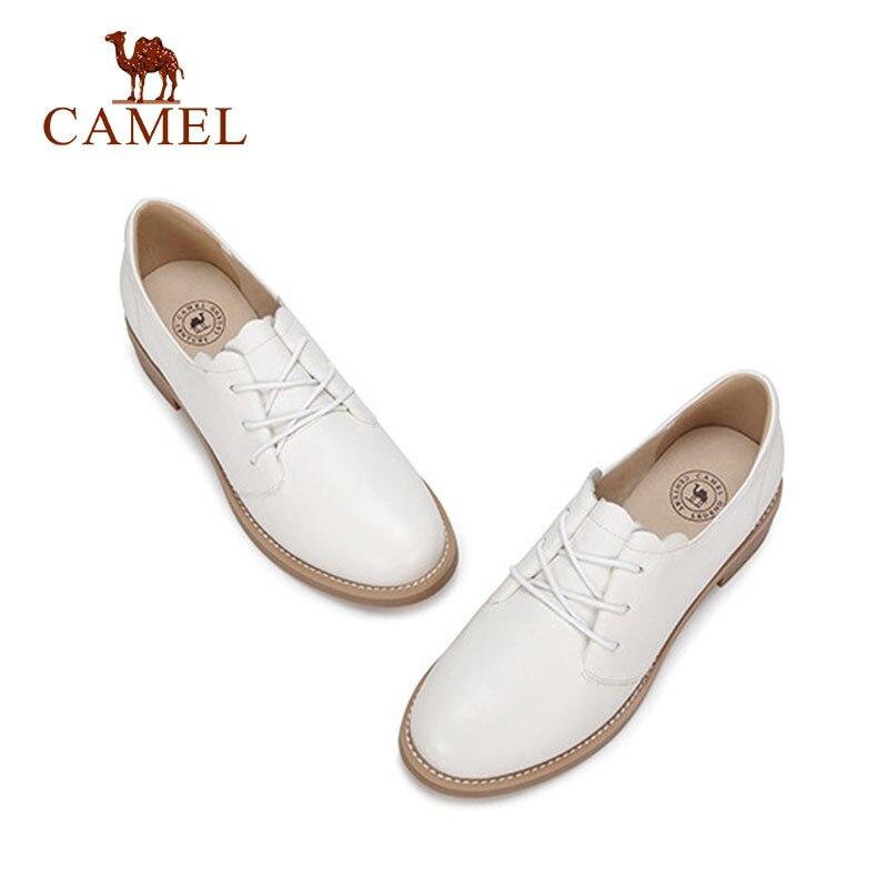 Ayakk.'ten Kadın Pompaları'de DEVE Kadınlar Yeni Moda Rahat tek ayakkabı Kadın Düşük Topuk Yumuşak Hakiki Deri Beyaz Elbise Ayakkabı Bayanlar Için Düşük Konfor Pompaları'da  Grup 2