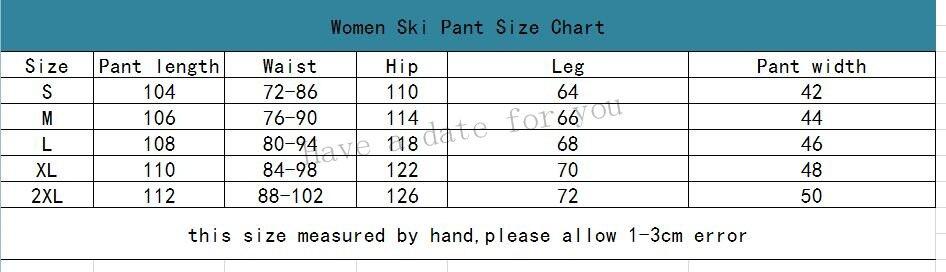 women pant size