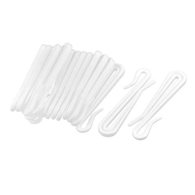 uxcell huishouden slaapkamer woonkamer plastic gordijn gordijnen haken wit 16 stks
