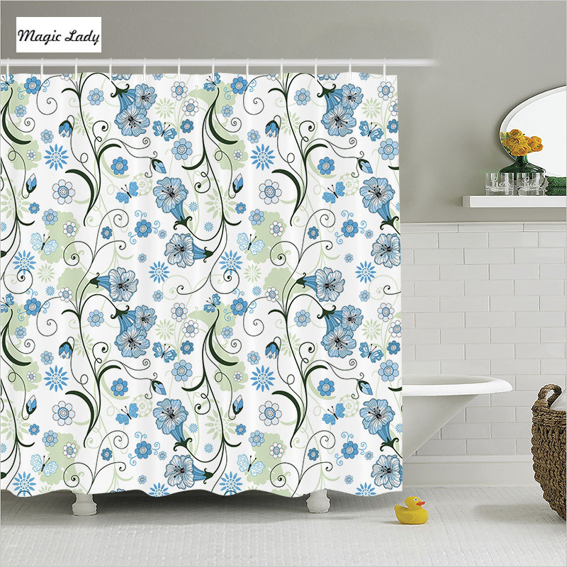 Shower Curtain Elegant Bathroom Accessories Spring Summer
