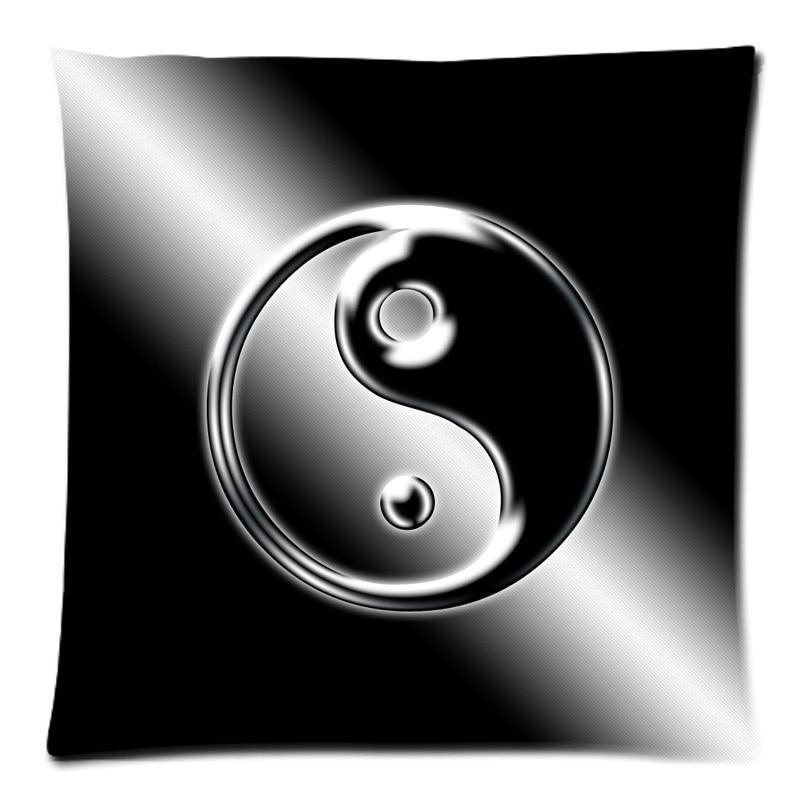 2018 Pillowcase Tai Chi Yin Yang Symbols Print Pillow Cases