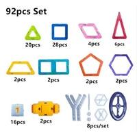 92pcs Set Mini Size 3D Magnetic Blocks Construction Set Magnet Building Blocks DIY Educational Children Toys for Gifts