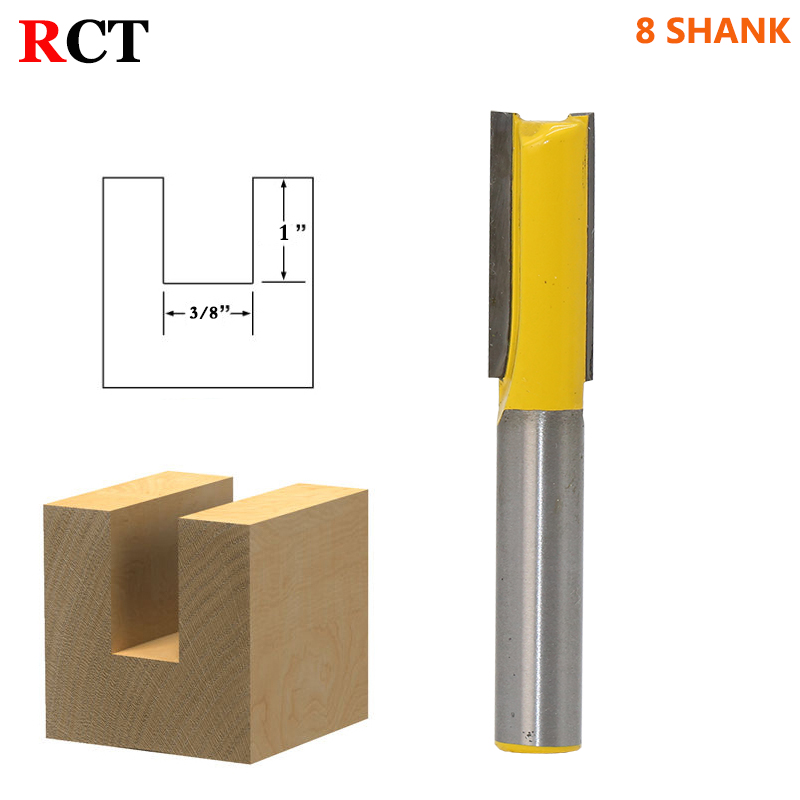 1pcs 8mm Shank wood router bit Straight end mill trimmer cleaning flush trim corner round cove box bits tools Milling Cutter machine wood cutter bits 2 double flute straight cutting mdf woodworking router bit flush trim bit mill cutter slot carving tool