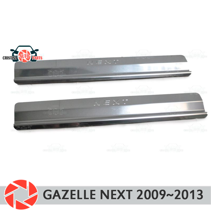 Door sills for GAZ Gazelle Next 2013~2019 step plate inner trim accessories protection scuff car styling decoration stamp model inter step next p96 red