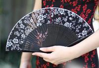 19cm classical Chinese style women's silk antique folding fan silk wind Japanese folding gift fan fanFree shipping