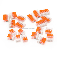300PCS WAGO Suyep Lever Nut Assortment Pack Conductor Splicing Wire Connector 450 V 24 12 AWG
