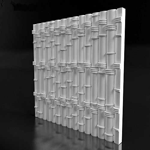 "2pcs Plastic Molds Plastic forms, plastic 3D decorative wall panels ""Bamboo"" for gypsum, Price for 2pcs unique design"