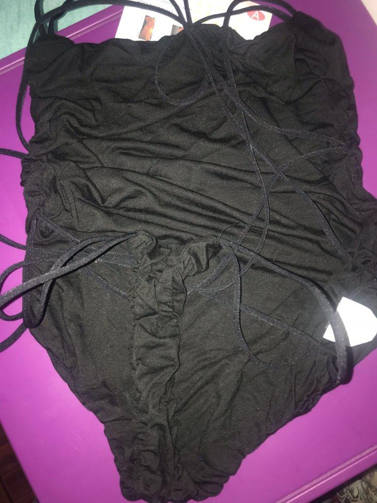 COLROVIE Strappy Backless Bodysuit Women Black Sleeveless Summer Beach Hot Bodysuits Navy Scoop Neck Cross Slim Cami Bodysuit