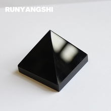 Obsidian Stone Pyramid Shape Black Natural Stones and Minerals 3 Size to Choose High Quality 1 Pc Wholesale Runyangshi BH02