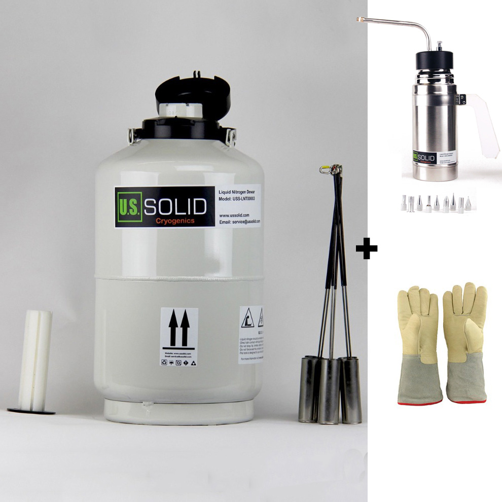 10 L Liquid Nitrogen Tank Sprayer 35 cm 13 8 Cryogenic Glove