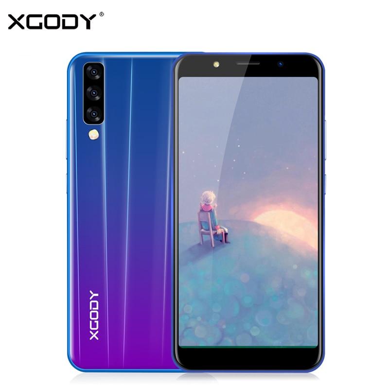 "XGODY P20 Pro Dual Sim Smartphone 6"" 18:9 Full Screen Mobile Phone Android 8.1 MTK6580 Quad Core 2GB RAM 16GB ROM 5MP Cellphone"