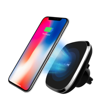 NILLKIN แม่เหล็กรถไร้สายสำหรับผู้ถือ iPhone 11 XS MAX XR X สำหรับ Galaxy S10 S9 PLUS สำหรับ Xiao mi Mi 9 สำหรับ Huawei 5W