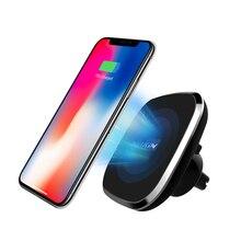 Nillkin manyetik araba kablosuz şarj tutucu iPhone 11 Xs Max Xr X Galaxy S10 S9 artı Xiao mi mi 9 Huawei 5W