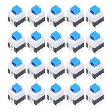 UXCELL 20Pcs 6 Pin 7x7x9mm Switch PCB Light Touch Latching Push Button Tact Tactile Switch Jumper Leads To Facilitate PCB Layout стоимость