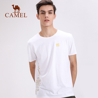 CAMEL Cotton Men T Shirts Fashion Casual O neck Loose Workout Crossfit Sports Running Gym Top High Stretch