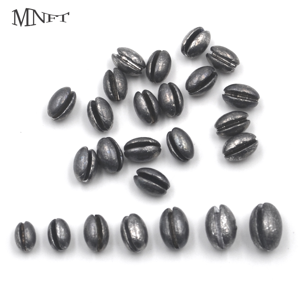 MNFT 1Set(140/100PCS) 1B To 7B Premium Oval Split Shot Lead Fishing Sinker Weight Combo With Box For Option Fishing Accessories