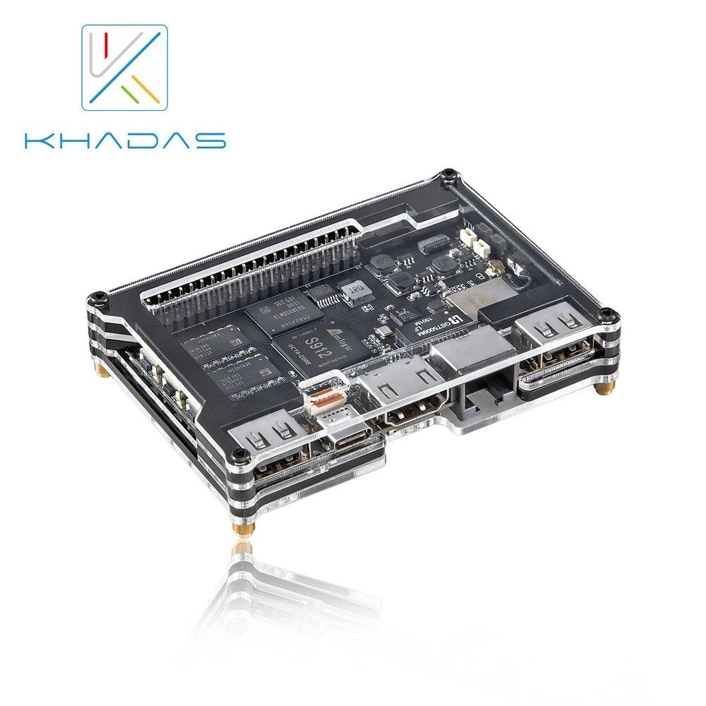 Khadas VIM2 Pro 4 k Dev conseil DDR4-3GB eMMC-32GB AP6359SA Octa Core BRAS 64Bit avec RSDB Fonction/Programmable MCU /Wake on LAN