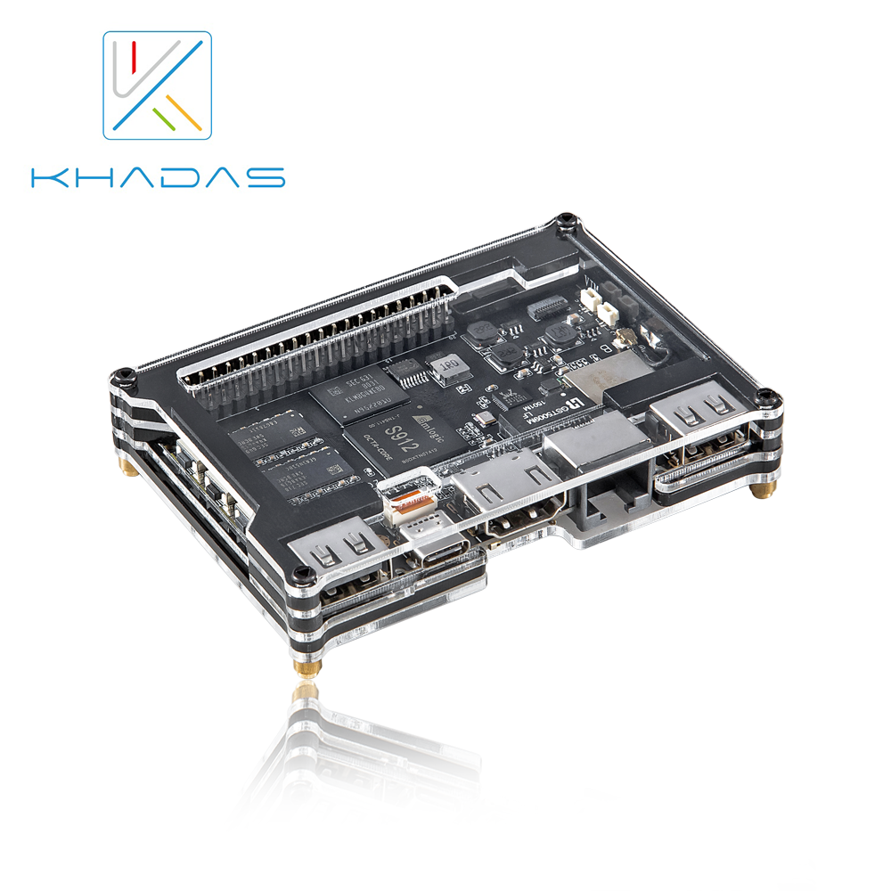 Khadas VIM2 Pro 4 k placa Dev DDR4-3GB eMMC-32GB AP6359SA 64Bit com Função RSDB Octa Núcleo ARM/MCU Programble /Wake on LAN