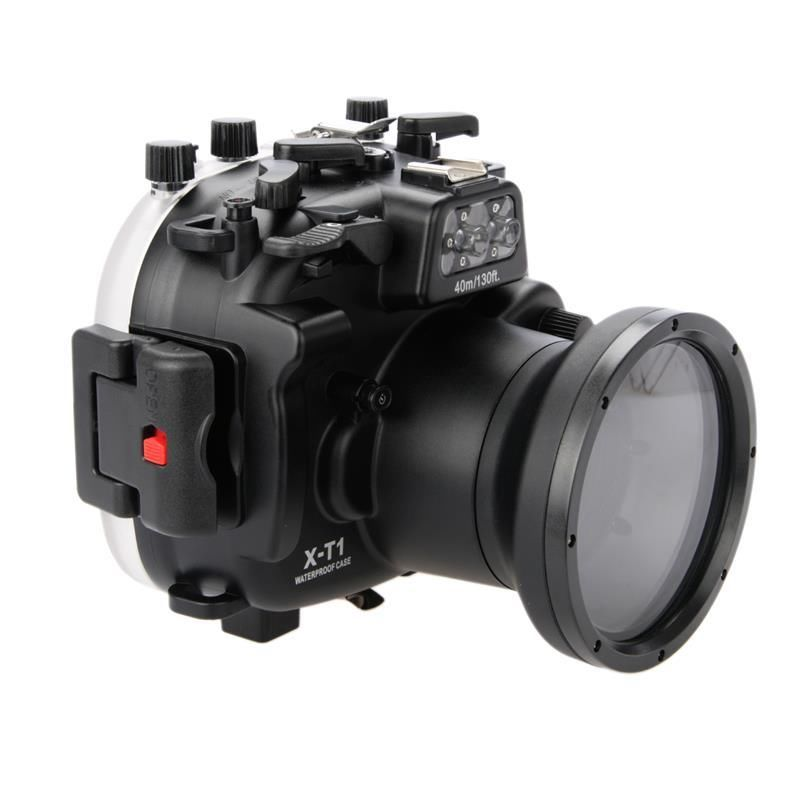 Meikon 40m/130ft Underwater Diving Camera Housing Case For Fujifilm X T1 XT1 with 18 55mm Lens Camera,Waterproof Camera Bag Case