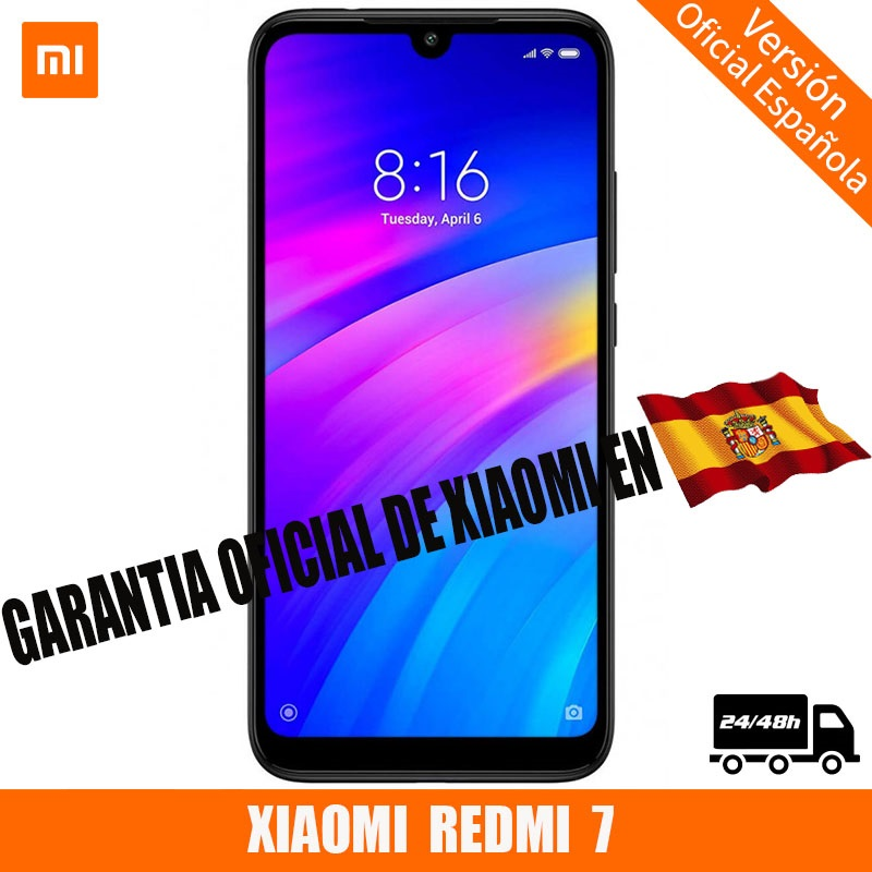 "[Official Spanish Version] XIAOMI Redmi 7 Smartphone HD + 6.26 ""Android 9.0 (3 Hard GB + ROM 32 Hard GB, Double SIM, Battery 4000 MAh)"