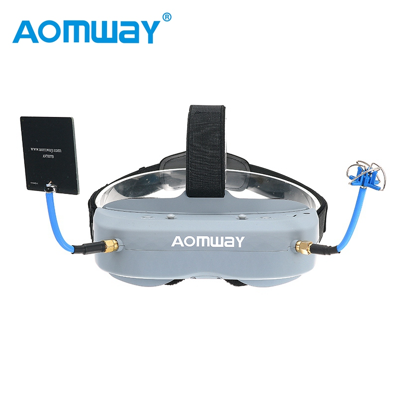 Aomway Commander Goggles V1 2D 3D 40CH 5.8G FPV Video Headset With Head Tracker Support HD Port DVR VS Fatshark V4 Eachine EV100 in stock eachine ev800d 5 8g 40ch diversity fpv goggles 5 inch 800 480 video headset hd dvr build in battery vs fatshark aomway