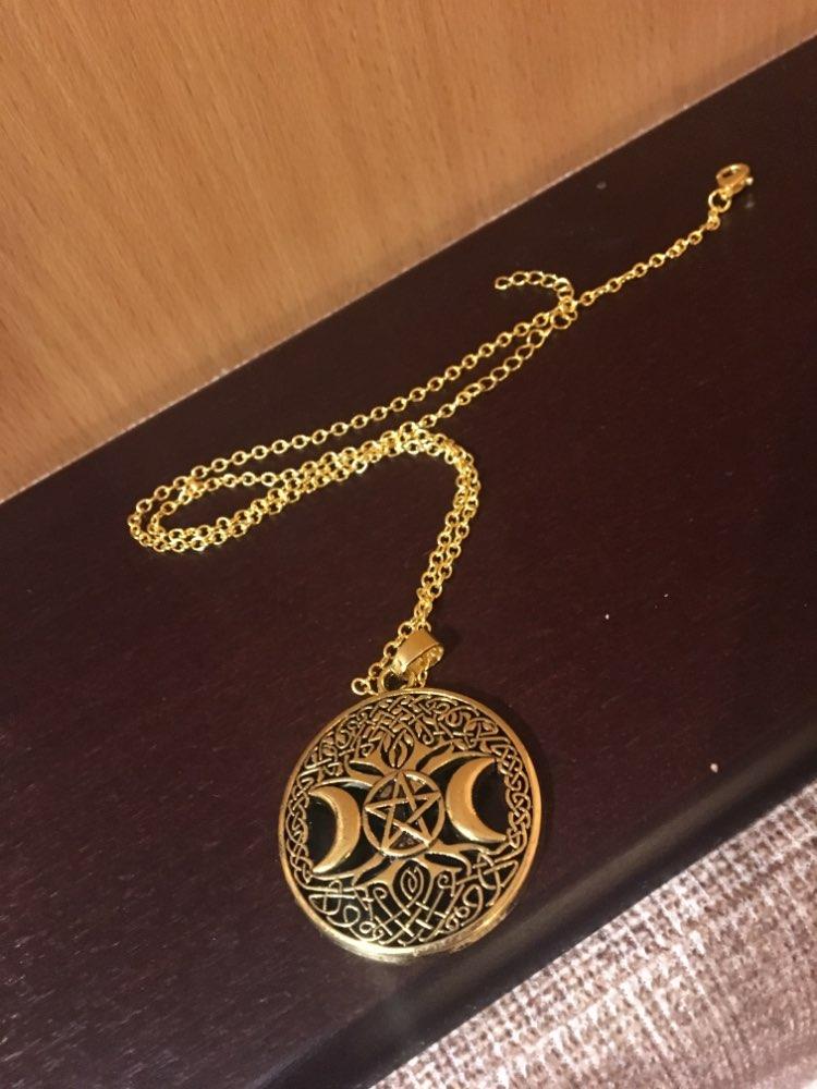 Fishhook Wicca Collar con colgante de Talism/án con forma de Pent/áculo de Solom/ón para Invisibilidad