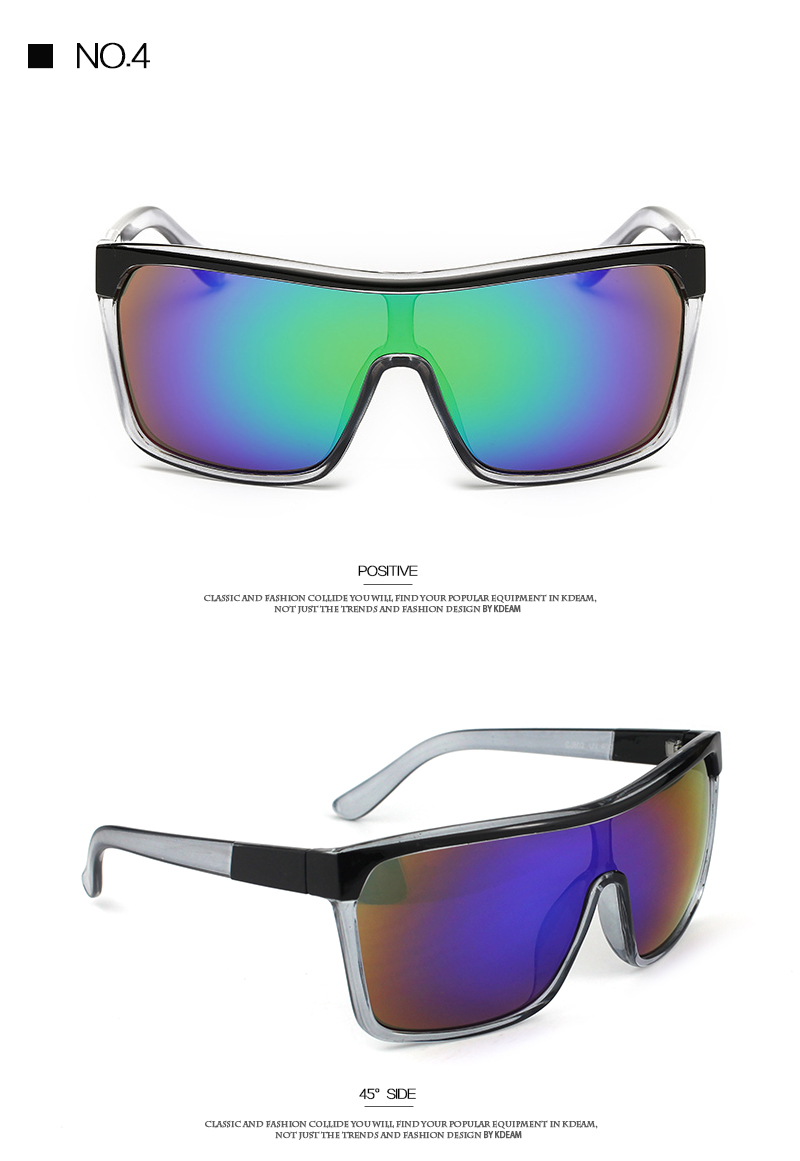 60eaced566 KDEAM Mens Goggle Flynn Sport Sunglasses Flat top Frame Women Sun Glasses  Windproof Glasses UV400 4 colors with Case KD802. 111 size all colors 1 2 3  4