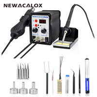 NEWACALOX 8586 220V 110V 700W Hot Air BGA Rework Soldering Station Electric Soldering Iron Kit Desoldering