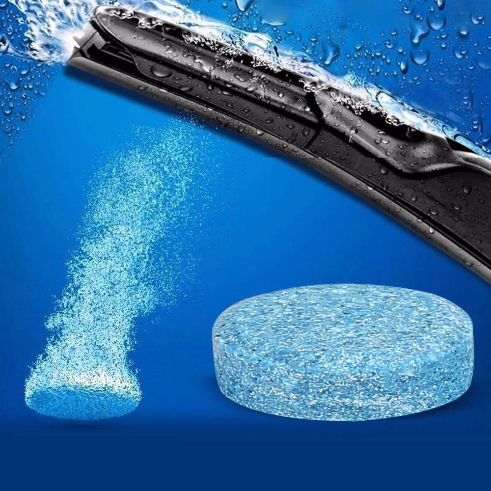 1 Stücke = 4l Wasser Auto Windschutzscheibe Glas Washer Reiniger Kompakte Brause Tabletten Waschmittel Drop Verschiffen Halten Sie Die Ganze Zeit Fit