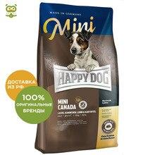 Happy Dog Supreme Mini Canada корм для взрослых собак мелких пород склонных к аллергии, Лосось и кролик, 300 г.