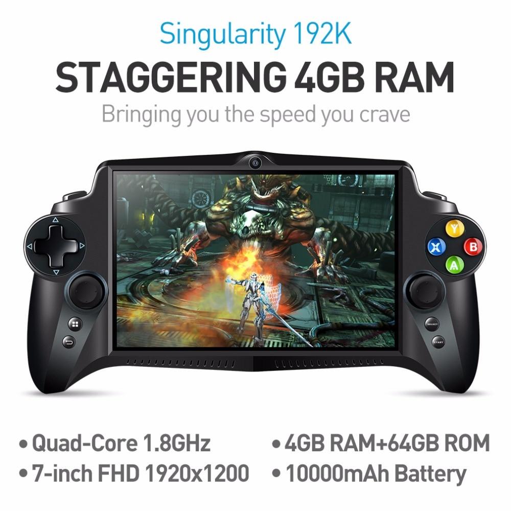 JXD s192k 7 pollice 1920x1200 4 ядра 4 г/64 ГБ NUOVO геймпад 10000 мАч Android 5.1 Планшеты pc игровой консоли 18 simulatori/