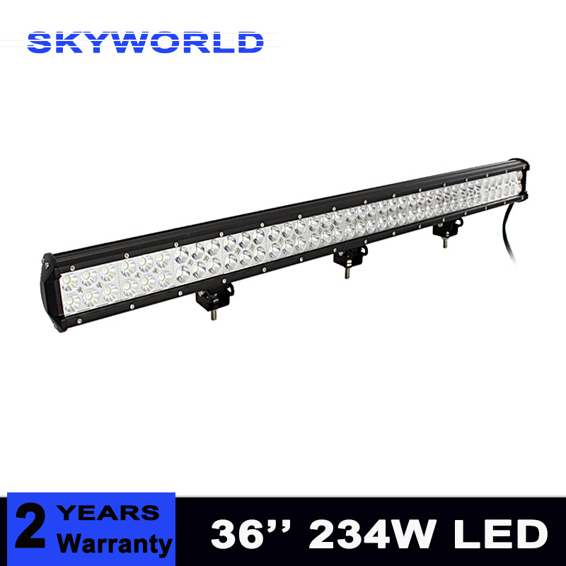 36'' 234W LED Light Bar truck offroad 12V Car Led Work Light Lamp Off-road 4x4 SUV ATV Tractor Combo headlight bar 24V 4pcs atv 4inch 27w led work light lamp 12v led tractor work lights bar spot offroad off road 4x4 accessories car truck 24v