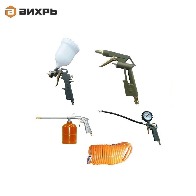 Set for the pneumotool Vihr NP-5 Spray gun Gun for viscous liquids Purge Gun Tire inflation gun Hose Accessories for compressors hose for spray gun gardena 13135 20 home