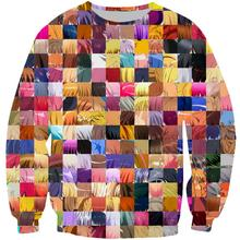 2019 Spring Autumn Funny Colorful hair For Women Tracksuit Split 3D Printed Sweatshirt Woman Female Pullover Plus Size XS-7XL