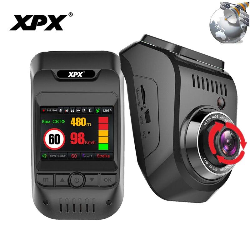 Dash cam XPX G585-STR Auto dvr 3 in 1 GPS Radar Dvr Macchina Fotografica Dell'automobile DVR auto Full HD 1080 p g-srnsor del Monitor Della Macchina Fotografica record di auto Dashcam