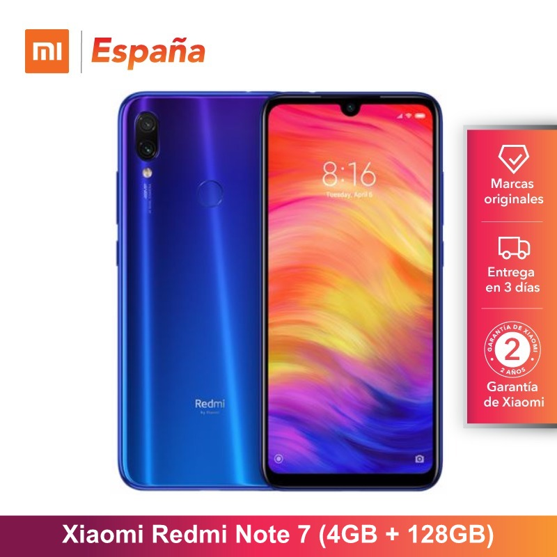 [Version globale pour l'espagne] Xiaomi Redmi Note 7 (memia interna de 128 GB, RAM de 4 GB, Camara dual trasera de 48 MP) Movil