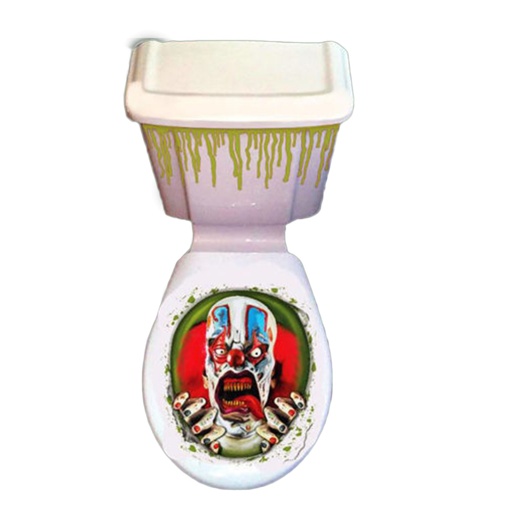 1 pc toilet seat grabber cover scary fancy dress horror party decoration paste tatto bathroom toilet cover sticker halloween christmas gift shop