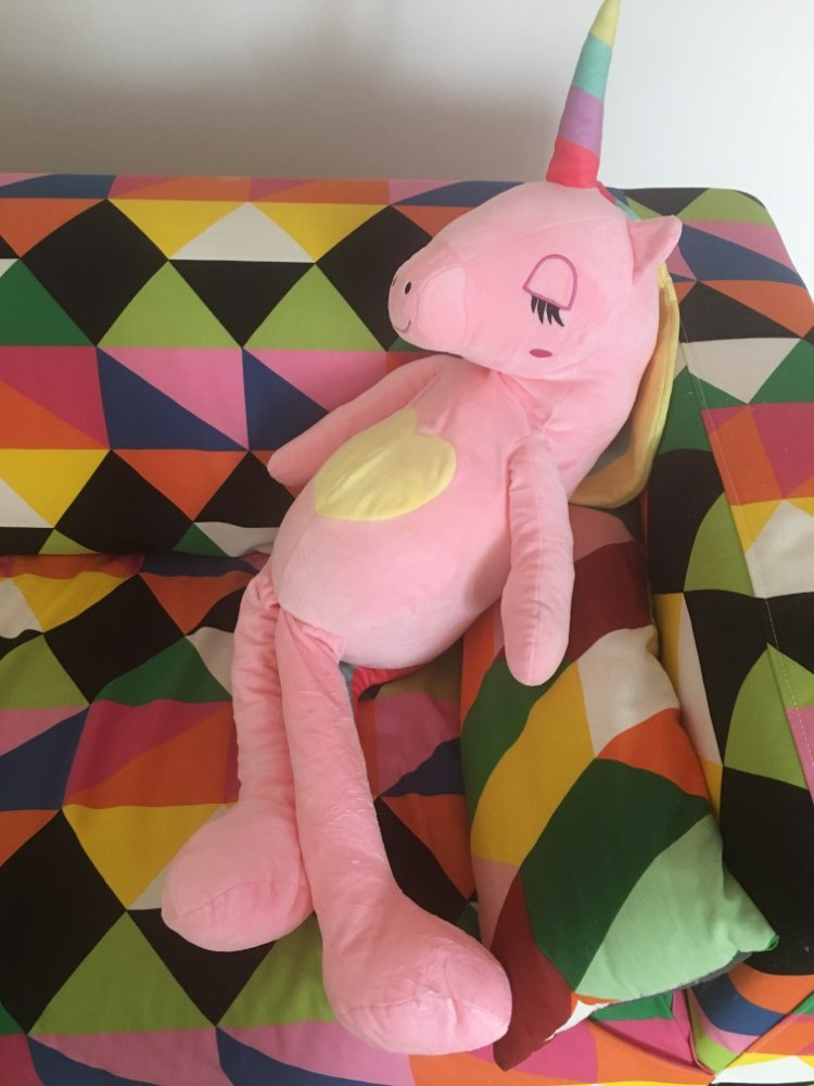 New Large Soft Unicorn Toy Gift Pillow Home Decoration photo review