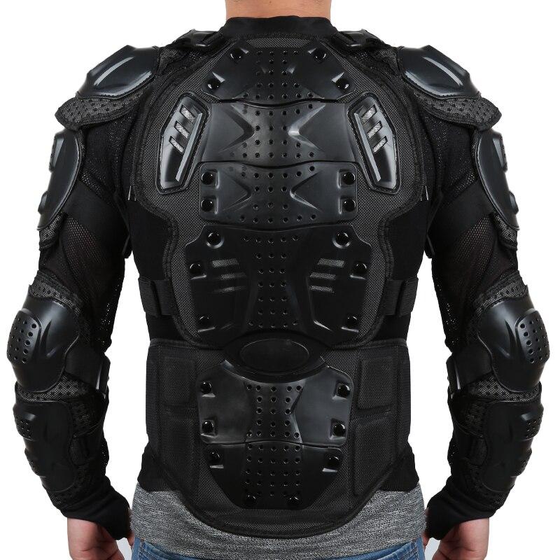 Chaqueta de la motocicleta de armadura de cuerpo completo motocross Racing Pit Bike pecho equipo protector hombro mano protección conjunta S-XXXL KDCW1