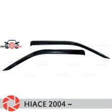 Оконный дефлектор для Toyota Hiace 2004-дождевой дефлектор грязи Защитная оклейка автомобилей украшения аксессуары литье