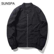 SUNSPA Bomber Jacket Men 2017 Spring Autumn Coat Casual Solid Regular Male Style Outerwear Mens Clothes M-3XL
