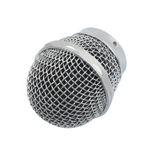 UXCELL Tono Plata Micrófono Dinámico Micrófono Parrilla Reemplazo de Cabeza De La Bola Redonda
