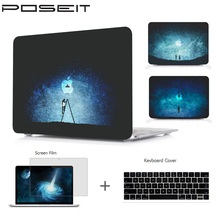 For Macbook Air 11 13 Pro 15 Retina 12 Touch Bar Plastic Hard Case Cover Laptop Shell+Keyboard Cover+Screen Film
