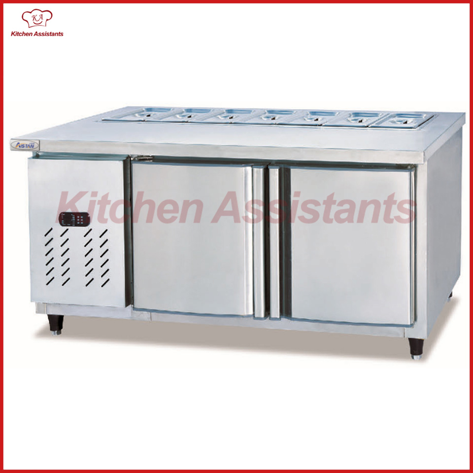 TS1800 SSalad Refrigerated Table / Pizza Fridge Table / Salad Counter Refrigerator
